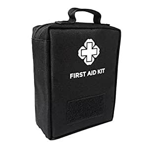Phenovo First Aid Kit Molle Medic Emergency Bag for Home School Car Office Sports Camping Hunting Outdoors Survival - black
