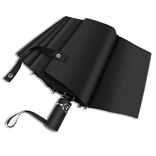 Regenschirm Taschenschirm windsicher Sturmfest bis 140 km/h - Auf-Zu-Automatik Schirm, 210T PG Tuch wasserabweisend Regenschirm Teflon-Beschichtung