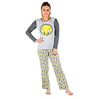 Snoopy Damen Schlafanzug Gr. Medium, Grey Tweety