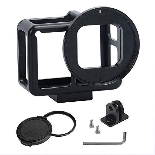 MENGS® GP-107 Aluminium Legierung schützende Gehäuse Case mit 52mm UV Filter für GoPro Hero 7 Black Action Kamera mit Hintere Abdeckung