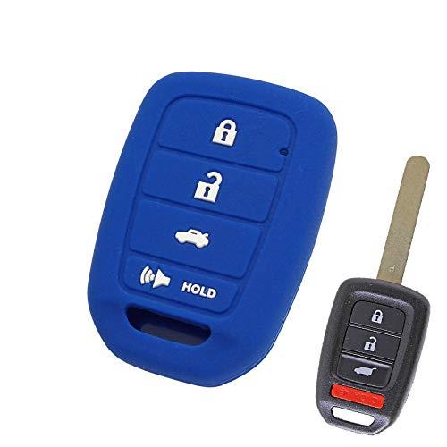 DYGDHAA 4 KNOPFSILIKON-Auto-SCHLÜSSELLOSE FOB-SMART-SCHLÜSSELABDECKUNG PASSEND FÜR FERNHÜLLENHALTER 2014 2015 2016 Honda Accord Civic CRV Jazz HR-V (Lx Honda Accord 2014)