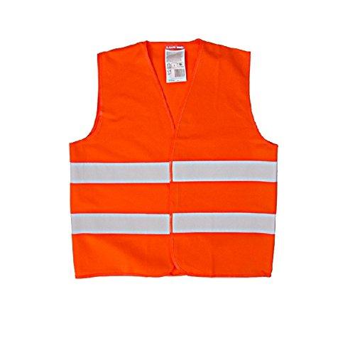 Preisvergleich Produktbild LAHTI PRO Kinder-Warnweste Sicherheitsweste Reflektorweste für 7-9 Jahre - entspricht Europanorm EN 11500 (Orange)