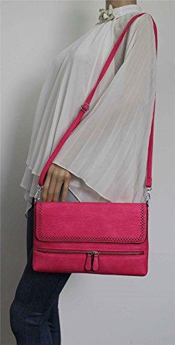 SwankySwans , Damen Clutch One Size Fuschia Pink