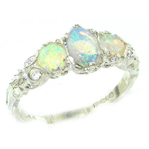 ladies-solid-sterling-silver-natural-fiery-opal-english-victorian-trilogy-ring-size-v-finger-sizes-l