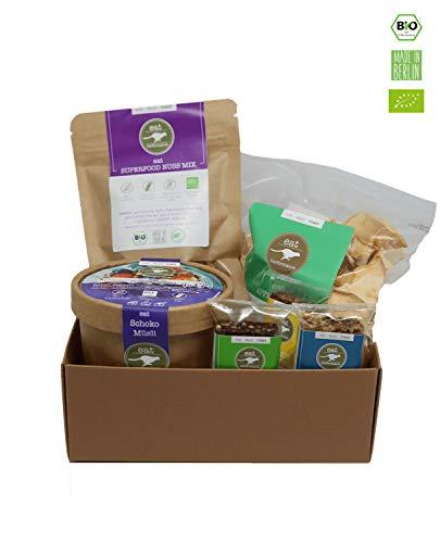 eat Performance® Schreibtisch Helfer Geschenkkorb (6 Artikel + Box) - Bio, Paleo, Glutenfrei Aus 100% Natürlichen Zutaten