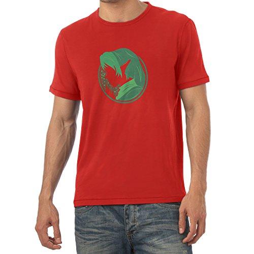 TEXLAB - Green Link - Herren T-Shirt, Größe XL, (Nerd Cute Männer Kostüm)