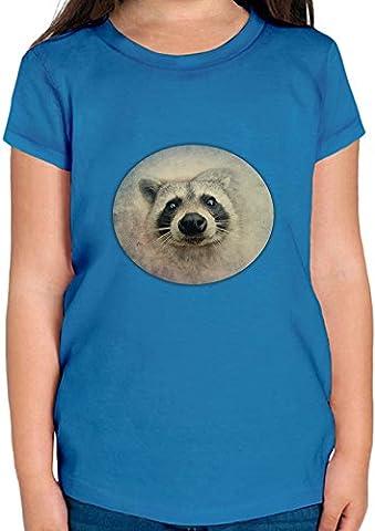 Cute Raccoon Face T-shirt Fille 12+ yrs