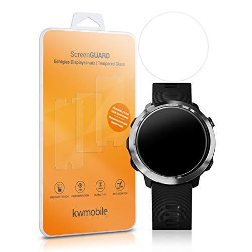 kwmobile 2X Echtglas Displayschutzfolie für Garmin Forerunner 645 - Fitness Armband Schutzglas Folie Schutzfolie Displayschutz Glasfolie in kristallklar