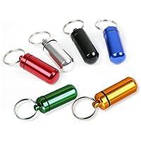 lumanuby 6PCS Notfall Pillendose mit Schlüsselhalter tragbar klein Pille Fall Kapsel Wasserdichter Versiegelung... preisvergleich bei billige-tabletten.eu
