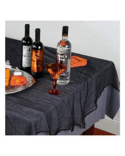 Horror-Shop Schwarze Halloween Tischdecke