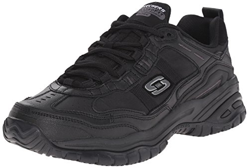 Skechers Mens Soft Stride Mavin Work Shoe, Black, 11 2E US
