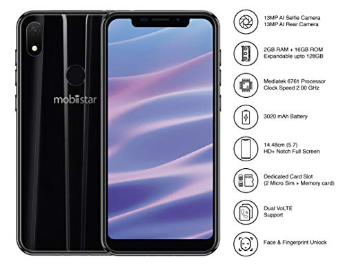 Mobiistar X1 Notch Midnight Black (2GB-16GB)