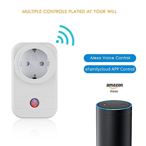 Smart Wireless Lighting (Vingtank WiFi Smart Socket, Wireless Intelligent Switch Socket Fernbedienung Timer Control Socket für IOS und Android für Heim und Büro - weiß)