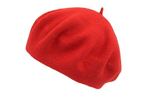 PETER RUTZ Baske Filzbaske (Farbe: Rot; Größe: One Size)