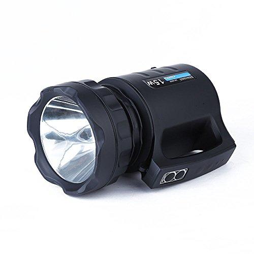Preisvergleich Produktbild efanr Tragbare LED Searchlight Camping Lights 15W Hochleistungs-Multifunktions-Long Range Taschenlampe Wasserdicht Wiederaufladbare Lampe Long Shots für ourdoos Camping Wandern Angeln