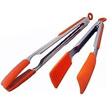 Pinze da Cucina in Silicone, Nuove Easy Grip da 23 e 30,5 cm in Acciaio (Chefs Mitt)