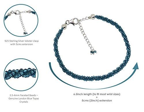 B'Love & Attraction' Sterling Silver Blue Topaz Bracelet