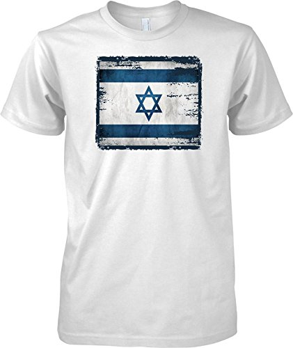 Israel Grunge Grunge Effect Flag - Kids T Shirt - White - 12-13 Years (Flag-football Israel)