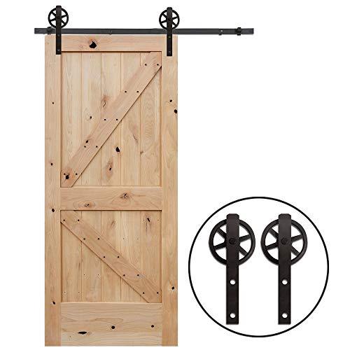 Schiebe-türen (8FT/243cm Schiebe Tür-Hardware-Track-Kit Einzeltür Holztür - Sliding Barn Wood Door Hardware Track Kit For Single Door Big Wheel Roller Hanger Set)
