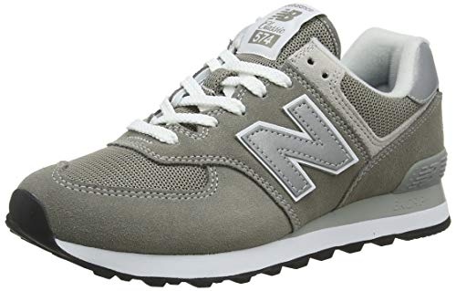New Balance Damen Wl574EB Sneaker, Grau (Grey), 40.5 EU Lace Up Suede Sneakers