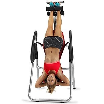 BH Fitness GRAVITYX G400RF klappbarer Inversionstrainer, Rückentrainer, Schwerkrafttrainer mit Sicherheitsgurten von BH Fitness