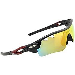 DUCO 0025 ? Gafas de sol deportivas, polarizadas, con 5 lentes intercambiables.