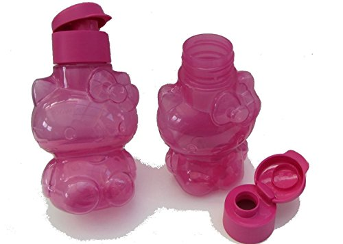 Tupperware 2 x ECO Easy Hello Kitty Flasche Trinkflaschen 425 ml (Flaschen Hello Kitty)