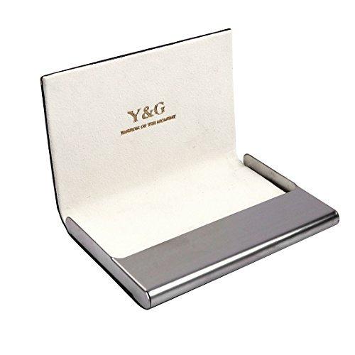 ydc05Best Visitenkartenhalter Kunstleder Karte Fall Ausgezeichnete Designer von Y & G, Weiß, CC1021