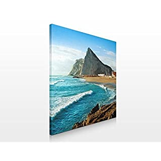 Apalis Assorted Designs Canvas Picture 70x 70cm, Gibraltar am Meer, 70 x 70