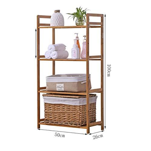 Zapatero de bambú Natural de madera dormitorio estante estante de almacenamiento simple partición...