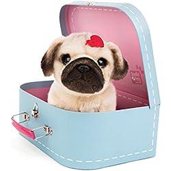 Studio Pets Pug Snuggle Perro de Peluche en maletín 6203