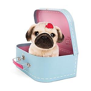 Studio Pets- Pug Snuggle Perro de Peluche en maletín (6203)