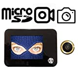 Mirilla digital electrónica con posibilidad de grabar Video y tomar Fotos-Cámara de 120° con zoom