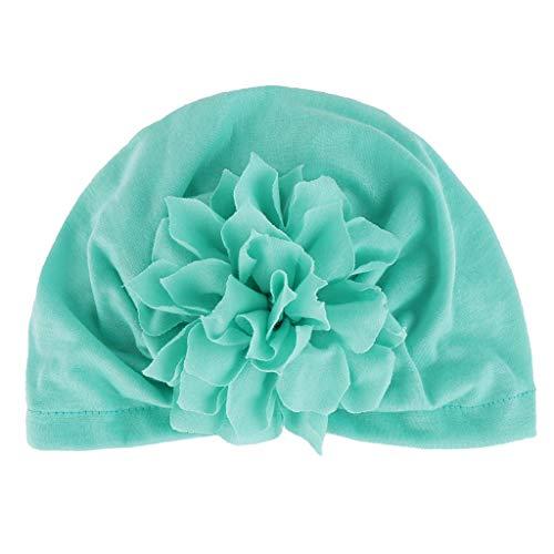 Lazzboy Unisexmode Neugeborenes Baby Mädchen Jungen Floral Saum Mütze Hut Kappe Haarband Chiffon Blume Haarschmuck Spitze Band Neugeborene Kopfbedeckung(C) (Schwimmen-kappen Für Frauen Blume)
