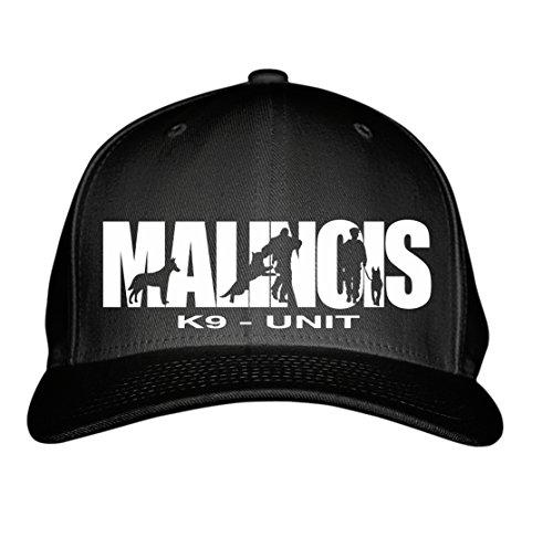 SIVIWONDER CAP - K9- UNIT MALINOIS Schutzhund Polizei -HUNDESPORT HS - Baumwoll 6-Panel schwarz -