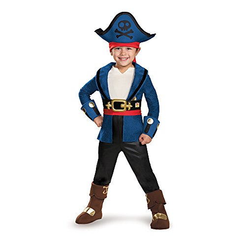 Disguise 85602S Captain Jake Deluxe Costume, Small (2T) (Captain Jake Kostüm)