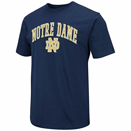Blue 84 Notre Dame Fighting Irish Adult Arch Logo T-Shirt - Navy, Large