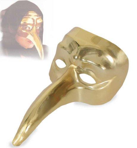 Maske Myers Billig Michael (Vogelmaske venezianischer Stil, gold, Karneval, Venedig, Accessoire, Venezianischer Karneval, Venecia, Italienischer Karneval, Maske, Vogelmaske, Goldmaske, Verkleidung, Kostümzubehör,)