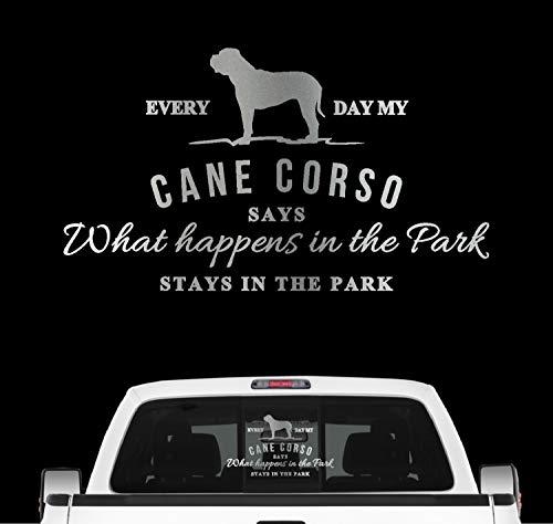Siviwonder Cane Corso Aufkleber Vintage Hundeaufkleber Folie Italiano Cane Corz Italien Farbe Silber, Größe 20cm