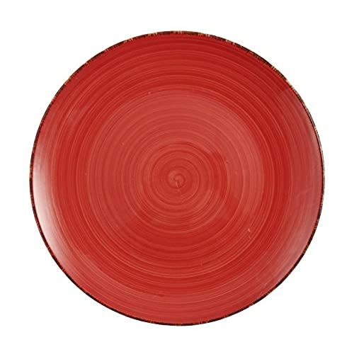 Villa D\u0027Este 6 dinner plate Set Baita hand-painted glazed stoneware red  sc 1 st  Amazon UK & Coloured Dinner Plates: Amazon.co.uk