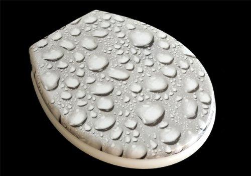 ADOB Duroplast WC Sitz Klobrille Modell Tropfen mit Absenkautomatik, zur Reinigung abnehmbar, 59853