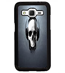 PrintDhaba Music Skull D-2104 Back Case Cover for SAMSUNG GALAXY CORE PRIME (Multi-Coloured)