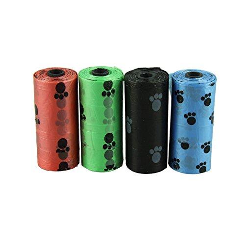 HCFKJ 10Roll = 150Pcs Abbaubare Haustier Hundeabfall Poop Tasche Mit Drucken HüNdchen Tasche