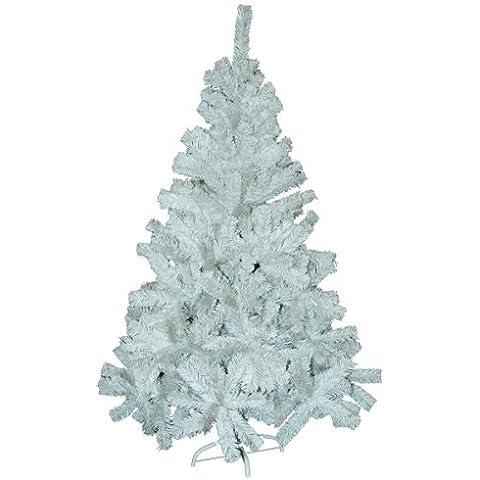 Bianco Felce Albero di Natale con supporto. 1,8m/180cm. 480tips su un albero. Natale.