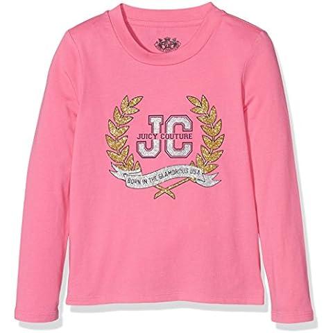 Juicy Couture Logo Glam Laurels Ls Tee, T-Shirt Bambina