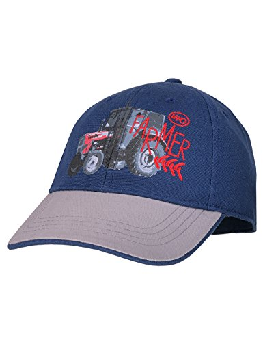 maximo Jungen Kappe Cap Tractor Farmer, Blau (Navy/Hellgrau 4858), 53/55