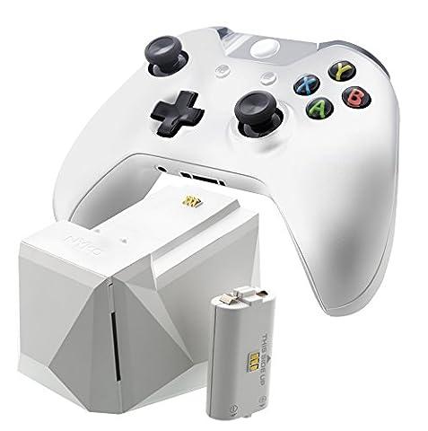 Erweiterbare Einfach-Ladestation für Xbox One-Controller, weiß, mit Netzteil und Deutschem