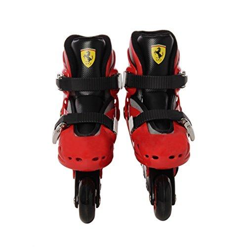 Ferrari FK7-Pattini in linea regolabili per bambini
