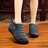 Women Ankle Boots,Mosstars Winter Keep Warm Short Plush Velvet Flat Shoes Snow Fashion Slip-On Covered Side Vamp Round Toe Solid Color Boots Sale