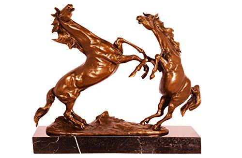 Statue de bronze sculpture cheval style antique statue figure - 42cm